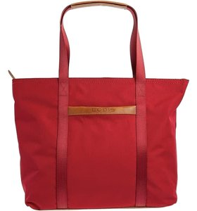 Lodis Shoulder Laptop Tote in Red