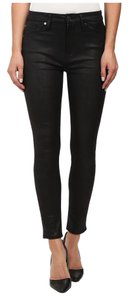7 For All Mankind Leather Faux Leather Skinny Jeans-Dark Rinse