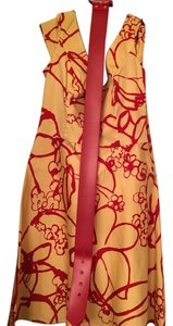 Chetta B. by Sherrie Bloom and Peter Noviello short dress Gold/red on Tradesy
