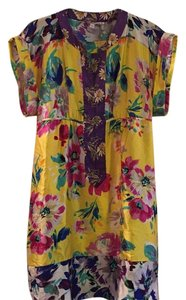 Calypso St. Barth short dress Yellow floral on Tradesy