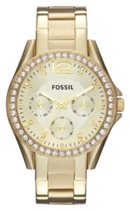 Fossil Riley Multifunction Gold-Tone Stainless Steel Watch
