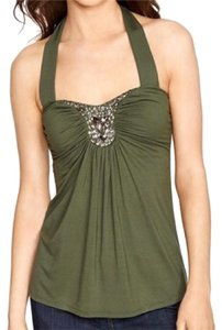 White House | Black Market Ivy Green Halter Top