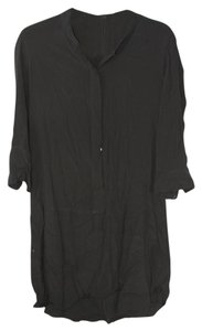 Broadway & Broome & T-shirt Button Down Shirt Black