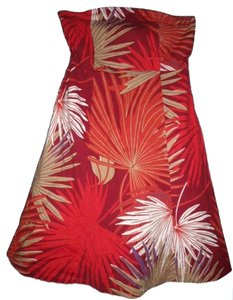 Gap short dress Multi-Color Stretch Strapless Tropical Colorful Built-in Bra on Tradesy