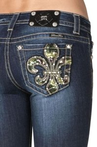 Miss Me The Buckle Boot Cut Jeans-Dark Rinse