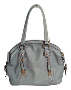 Satchel in Robins egg blue double zipper