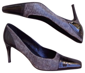 Sesto Meucci Black Gray Pumps