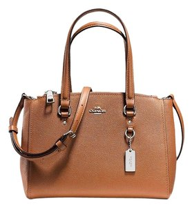 Coach Stanton 26 Carryall Luggage Leather Satchel in Saddle / Silver