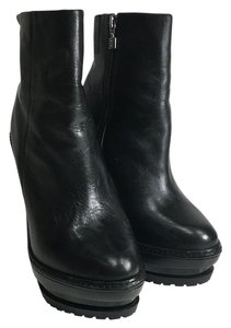 Hervé Leger Olga Leather Black Boots