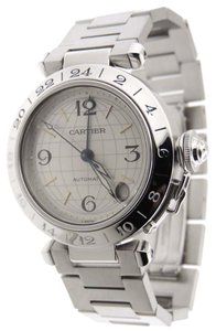 Cartier Cartier Pasha C GMT Stainless Steel Automatic 35mm Date Analog Watch