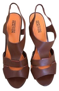 Kenneth Cole Heels Summer Boho Tan Sandals