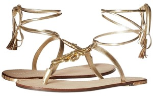 Lilly Pulitzer Pier Gladiator Size 6 Free Shipping gold Sandals