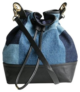 H&M Bucket Bga Denim Denim Shoulder Bag