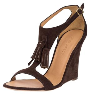 Dsquared2 2 Suede Pumps Wedge Brown Sandals