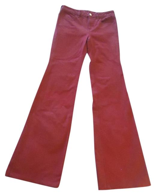 Item - Red Medium Wash Flare Leg Jeans Size 26 (2, XS)