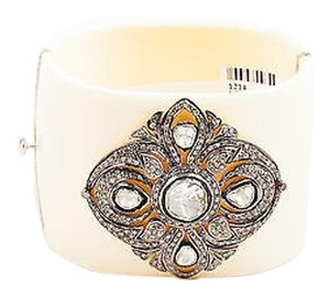 Other Cream Bacolite Diamond Embellished Cuff Bracelet