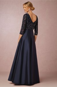 Aidan Mattox Navy Viola Dress