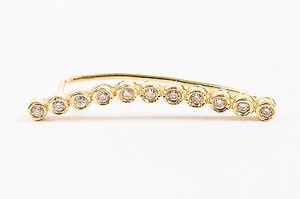 Jacquie Aiche Jacquie Aiche Nwot 14k Yellow Gold White Diamond Ear Cuff
