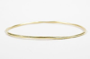 Ippolita Ippolita 18k Yellow Gold Glamazon Squiggle Skinny Bangle Bracelet 2