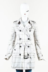 Burberry Brit White Two Tone Trench Coat