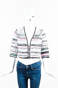 MILLY Pink Green Black White Multi-Color Jacket