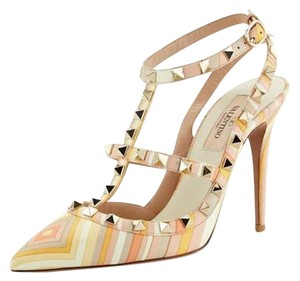 Valentino Pumps Orange Yellow Beige Sandals