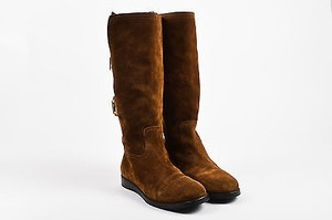 Jimmy Choo Cognac Suede Brown Boots
