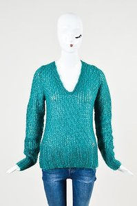 Gucci Green Mohair Silk Sweater