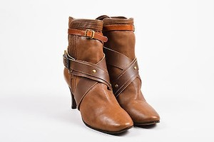 Chloé Chloe Leather Wrap Brown Boots
