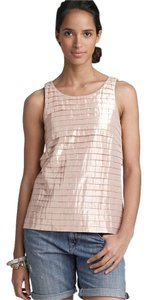 J.Crew Gold Rose Shimmer Pleated Top
