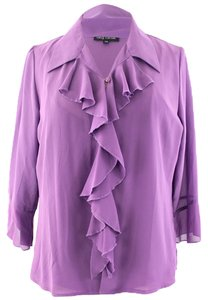 Oleg Cassini Top Purple