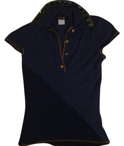 Versace T Shirt Blue and brown