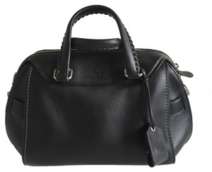 Coach Leather New Satchel in Black