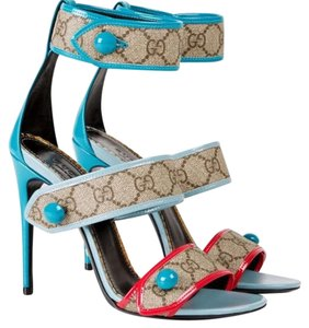 Gucci Beige/Turquoise Sandals