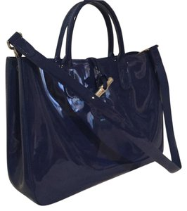Longchamp Satchel in Cobalt Blue