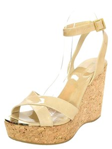 Jimmy Choo Wedge Patent Leather Cork Wedges
