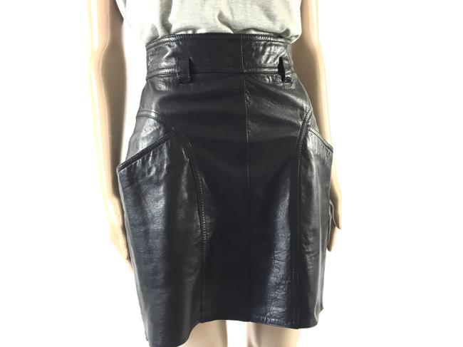 Other Leather Size 28 Evening Mini Skirt Black Image 2