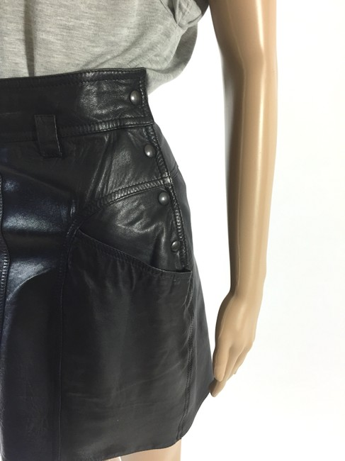 Other Leather Size 28 Evening Mini Skirt Black Image 3
