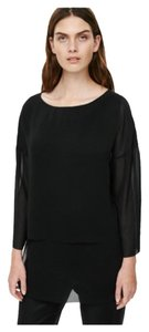 COS Sheer Machine Washable Tunic Top Black