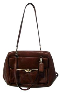 Coach Madison Leather Satchel in Brown