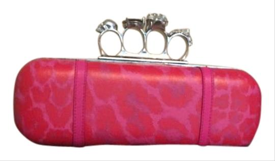 Preload https://img-static.tradesy.com/item/18875224/alexander-mcqueen-knuckle-pink-and-red-leather-clutch-0-1-540-540.jpg