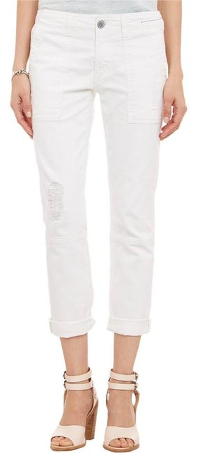 Item - White Distressed The Seamed Buddy In Destroy Relaxed Fit Jeans Size 27 (4, S)
