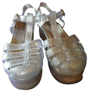 Bamboo Platform silver and clear Platforms