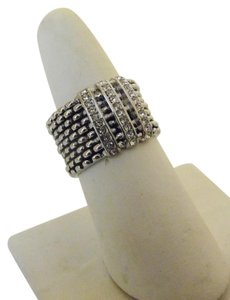 Other Emma Skye Popcorn Design Crystal Wide Band Ring