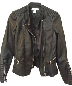 H&M Biker Quilted Leather Jacket