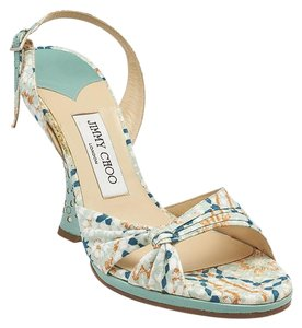 Jimmy Choo Amazon Fabric Multi-Color Wedges