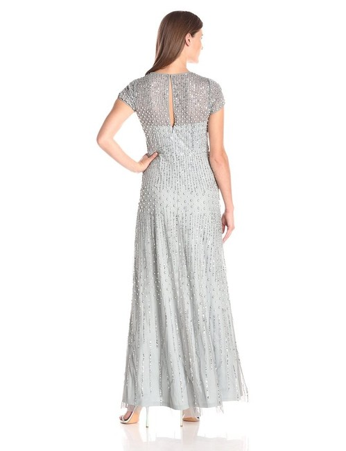 Adrianna Papell Beaded Gown Bridesmaid Mermaid Dress Image 3