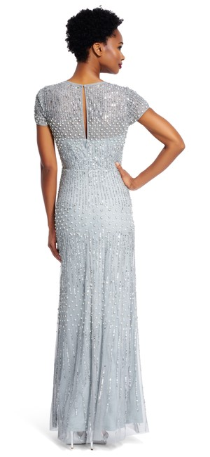 Adrianna Papell Beaded Gown Bridesmaid Mermaid Dress Image 5