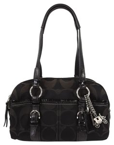 Coach Rare Signature Jacquard Satchel in Black