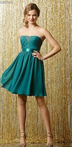 Wtoo Peacock Jade Ribbon Chiffon 595 Bridesmaid/Mob Dress Size 8 (M)